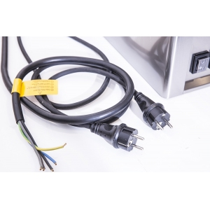 Гриль электрический контактный, 2 зоны 0.31м2, поверхность гладкая+гладкая хром+тефлон, настольный, 2х220В+1х380В