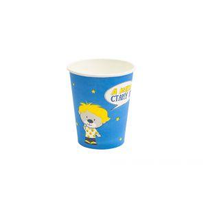 Стакан бумажный для горячих напитков Детский Мишки 250мл
