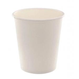 Стакан для горячих напитков 185мл бумага белый