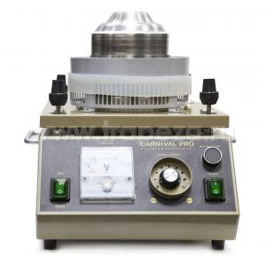 Аппарат сахарной ваты, вертикальная подача, 5kg/h., пласт. ловитель, ТЭН, цвет корпуса золотистый, кнопка «быстрый старт»