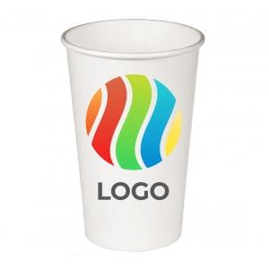 Стакан бумажный для холодных напитков 300мл с ЛОГОТИПОМ