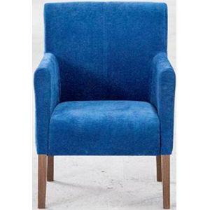 Кресло Бурже, мягкое, обивка ткань II категории синяя