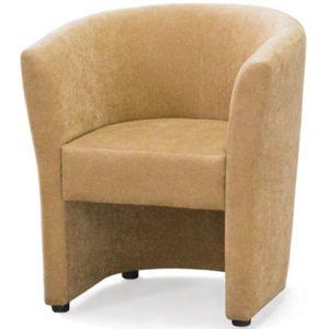 Кресло Кэнди, мягкое, обивка экокожа II категории бежевая