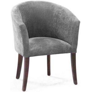 Кресло Бордо, мягкое, обивка ткань II категории серая
