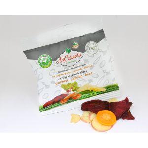 Хрустящие овощные дольки, микс: картофель, морковь, свекла, 30 г., пакет