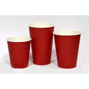 Стакан для горячих напитков RED 250мл бумага