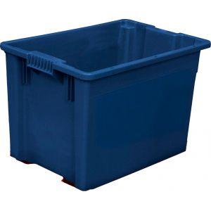 Ящик L 60см w 40см  h 40см, пластик синий