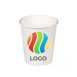 Стакан бумажный для горячих напитков однослойный 195мл с ЛОГОТИПОМ