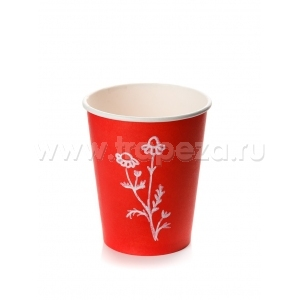 Стакан для горячих напитков RED 100мл бумага