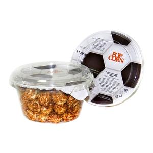 Попкорн готовый в пластиковом стакане, с футбольной тематикой, «карамель», 45г.