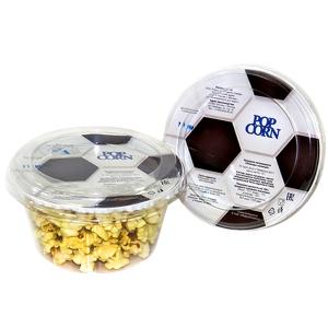 Попкорн готовый в пластиковом стакане, с футбольной тематикой, «соль», 15г.