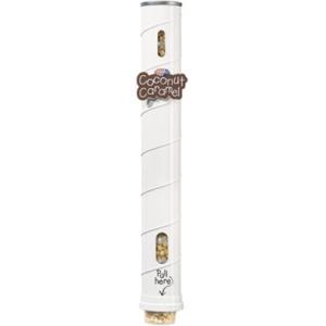 Диспенсер для 11 пластиковых стаканов готового попкорна Gourmet, настенный металлический, подача снизу, белый