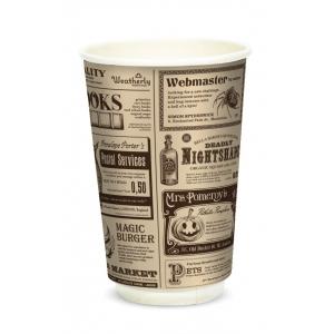 Одноразовая посуда стаканы бумажные для горячих напитков Флексознак Н0000028007
