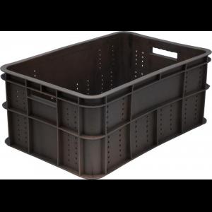 Ящик L 60см w 40см h 26см колбасный, сплошной, пластик черный
