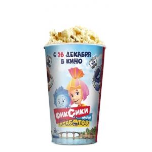 V 46 Стакан для попкорна «Фиксики против кработов»