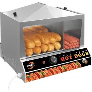 Аппарат для хот-догов паровой настольный, камера для сосисок ( 50шт.), камера для булочек (30шт.), электромех.управление, корпус нерж.сталь