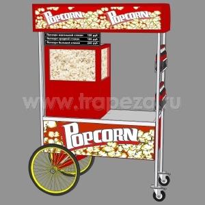 Витрина для попкорна с автоподачей, подогрев, красная