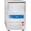 Льдогенератор для кускового льда,  46кг/сут, бункер 25.0кг, возд.охлаждение, корпус нерж.сталь, форма «кубик»