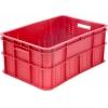 Ящик L 60см w 40см h 26см колбасный, сплошной, пластик красный