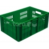 Ящик L 60см w 40см h 26см перфорированный, пластик зеленый