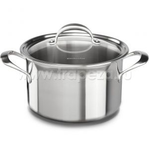 Кастрюля KitchenAid, 7.57л с крышкой (5 Ply Copper Core), нерж.сталь