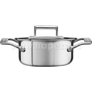 Кастрюля KitchenAid для соуса, 1.42л с крышкой (5 Ply Copper Core), нерж.сталь